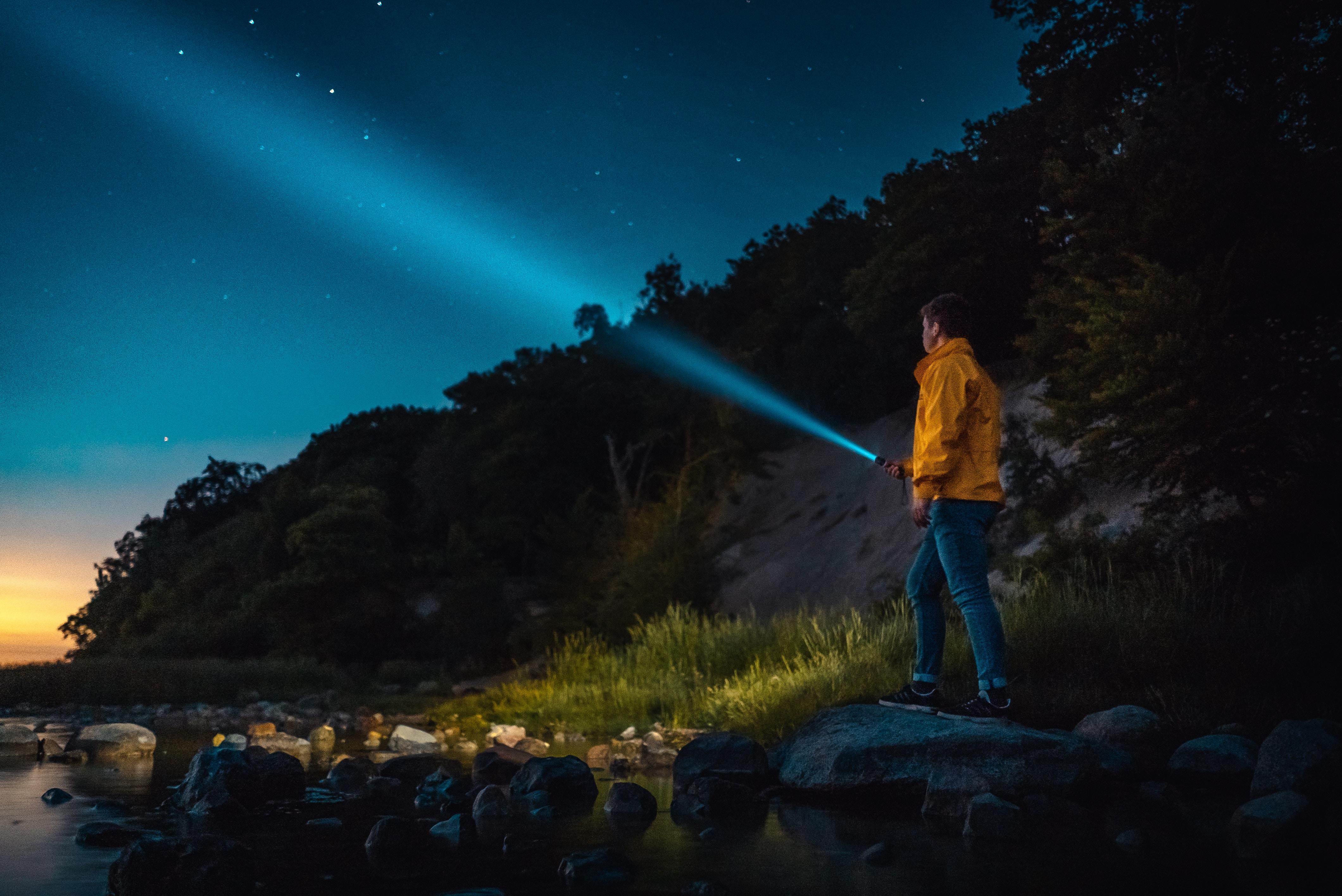 Friluftskanalen bjuder på en guide om ficklampor/pannlampor för friluftsliv